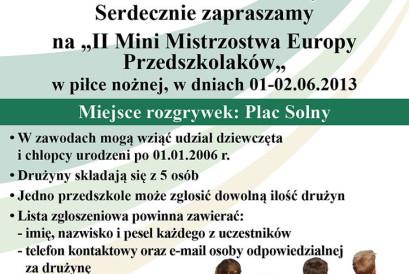 II Mini Mistrzostwa Europy przedszkolaków Wrocław 2013